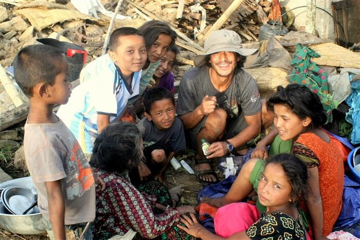 first aid in the remote village from Nepal Pyramids